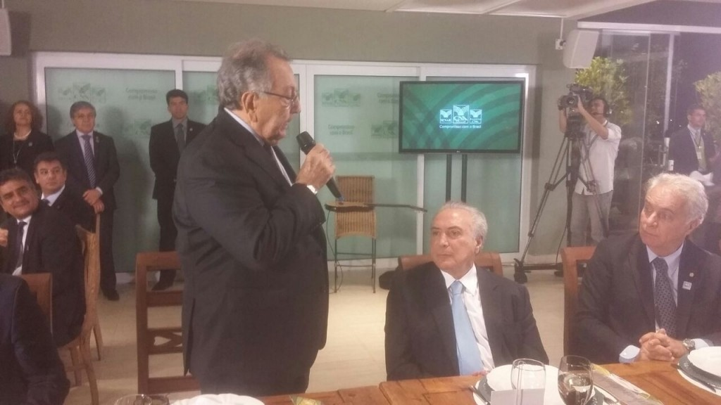 O presidente da CNA, João Martins, falou sobre as demandas do setor ao presidente Michel Temer