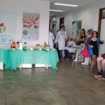 O coffe break foi servido no hall do Hospital do Bem